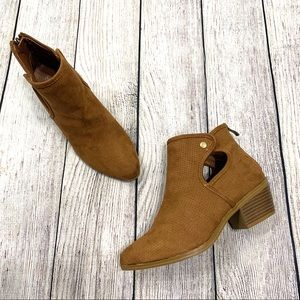 Forever Tan Faux Suede Ankle Length Boots Booties